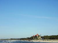 Łeba plaża wschodnia z Neptunem
