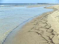 Łeba plaża zachodnia po burzy