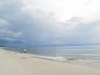 Łeba plaża zachodnia, spacer po wiosennej burzy...